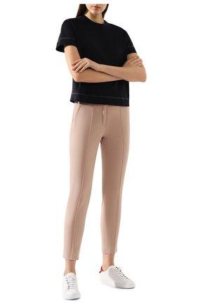 Женские хлопковые брюки LORO PIANA светло-розового цвета, арт. FAI8366   Фото 2