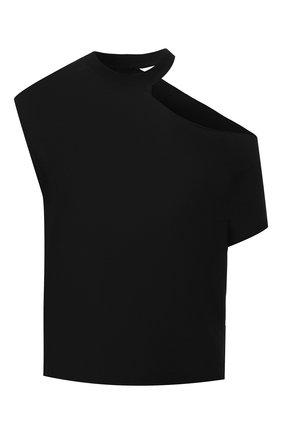 Женский топ из смеси хлопка и кашемира RTA черного цвета, арт. WU928-863WID0W | Фото 1