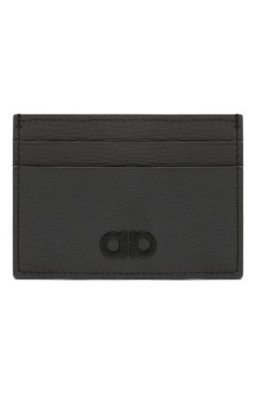 Мужской кожаный футляр для кредитных карт SALVATORE FERRAGAMO серого цвета, арт. Z-0713488 | Фото 1