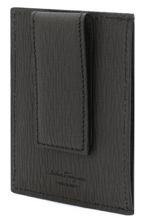 Мужской кожаный футляр для кредитных карт SALVATORE FERRAGAMO серого цвета, арт. Z-0713488 | Фото 2