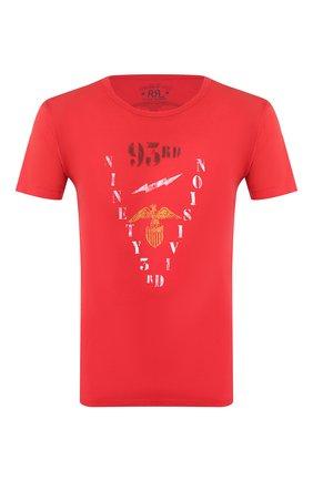 Мужская хлопковая футболка RRL красного цвета, арт. 782733365 | Фото 1