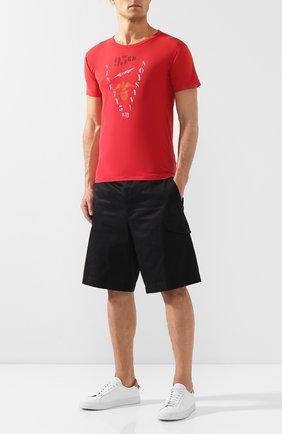 Мужская хлопковая футболка RRL красного цвета, арт. 782733365 | Фото 2