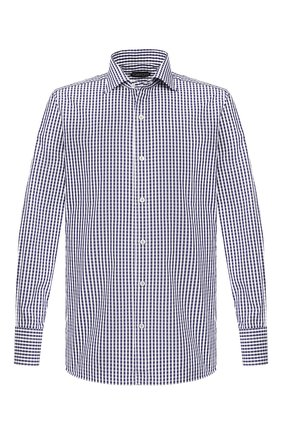 Мужская хлопковая сорочка TOM FORD синего цвета, арт. 6FT643/94S1AX | Фото 1