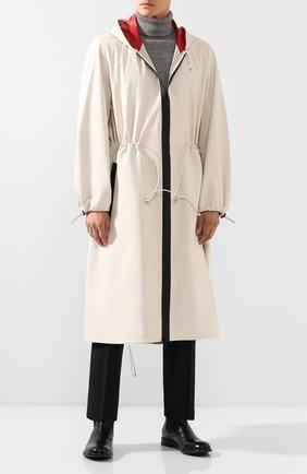 Мужской кожаный плащ BOTTEGA VENETA белого цвета, арт. 577513/VF3E0 | Фото 2