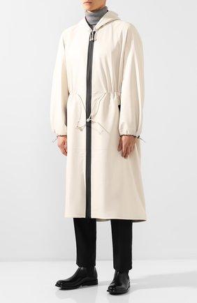 Мужской кожаный плащ BOTTEGA VENETA белого цвета, арт. 577513/VF3E0   Фото 3