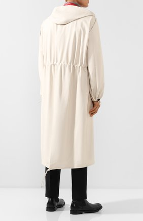 Мужской кожаный плащ BOTTEGA VENETA белого цвета, арт. 577513/VF3E0   Фото 4