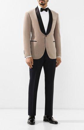Мужской кожаные дерби SANTONI черного цвета, арт. MCNM14667BB1IVERN01 | Фото 2