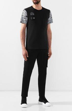Мужская хлопковая футболка STONE ISLAND SHADOW PROJECT черного цвета, арт. 711920110 | Фото 2
