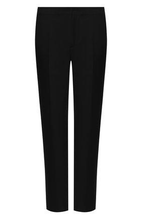 Мужской брюки из шерсти и шелка BRUNELLO CUCINELLI черного цвета, арт. MF460PS99 | Фото 1