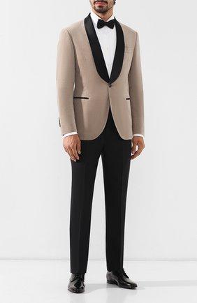 Мужской брюки из шерсти и шелка BRUNELLO CUCINELLI черного цвета, арт. MF460PS99 | Фото 2