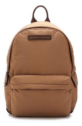 Мужской рюкзак travel BRUNELLO CUCINELLI коричневого цвета, арт. MBNRU243   Фото 1