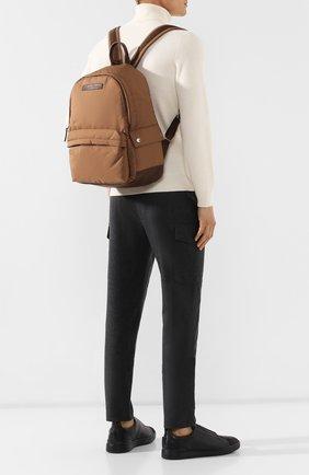 Мужской рюкзак travel BRUNELLO CUCINELLI коричневого цвета, арт. MBNRU243   Фото 2