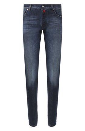 Мужские джинсы KITON темно-синего цвета, арт. UPNJS/J03S51 | Фото 1