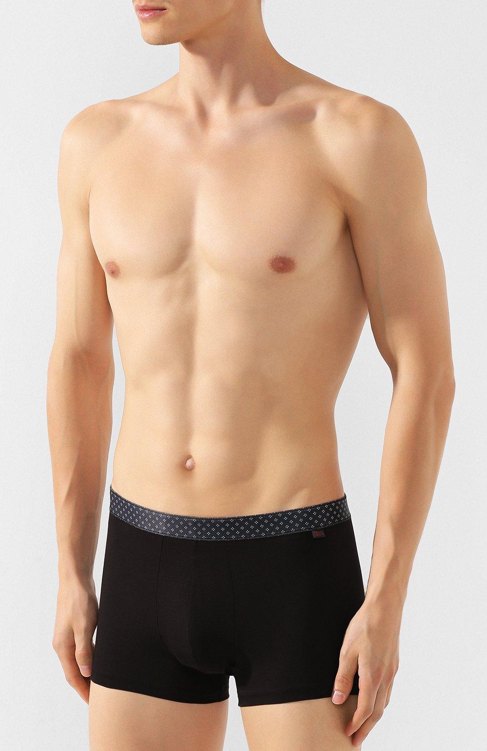 Мужские хлопковые боксеры DEREK ROSE черного цвета, арт. 8635-BAND043 | Фото 2