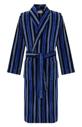 Мужской хлопковый халат DEREK ROSE темно-синего цвета, арт. 5705-AST0034 | Фото 1