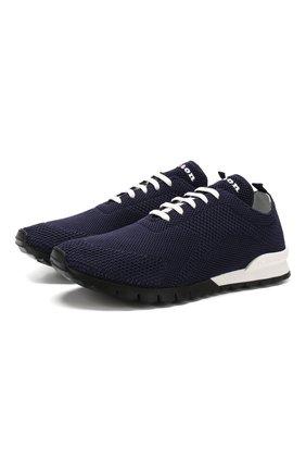 Мужские текстильные кроссовки KITON синего цвета, арт. USSFITN00609020 | Фото 1
