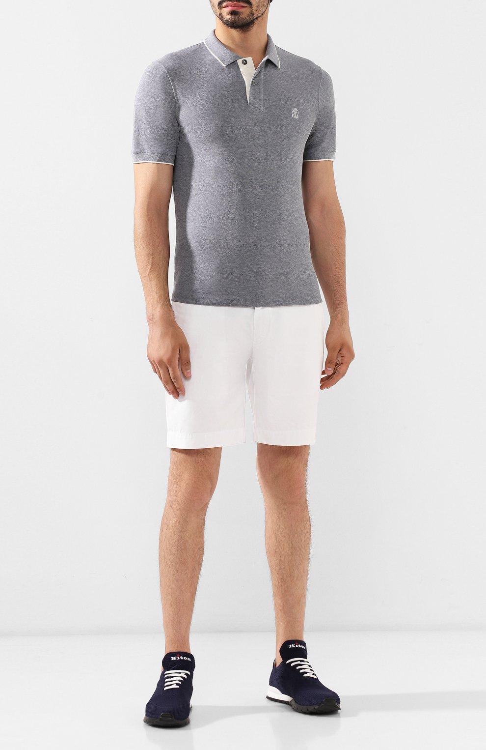 Мужские текстильные кроссовки KITON синего цвета, арт. USSFITN00609020 | Фото 2