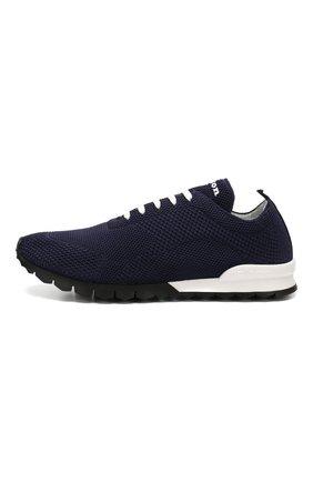 Мужские текстильные кроссовки KITON синего цвета, арт. USSFITN00609020 | Фото 3