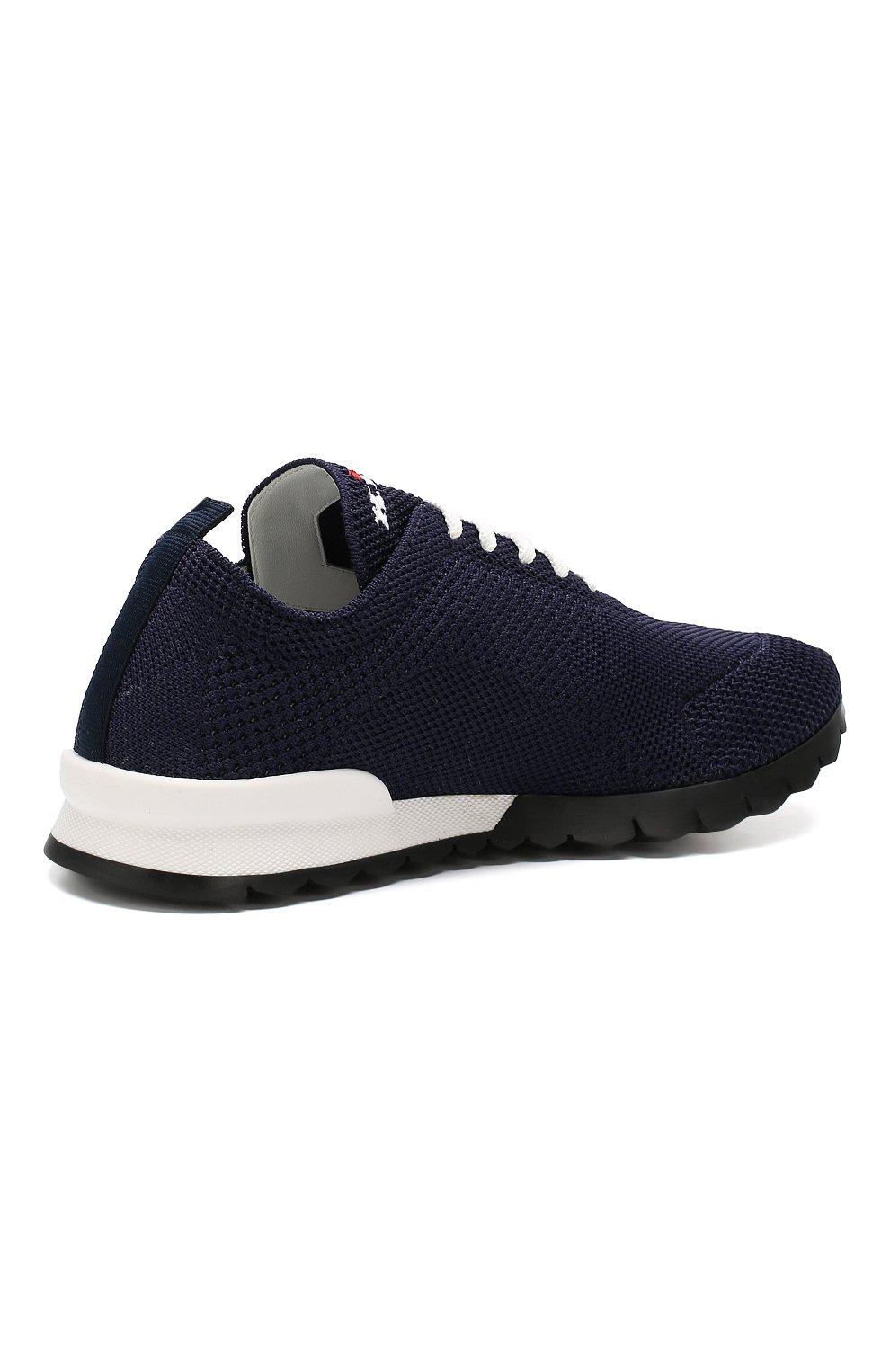 Мужские текстильные кроссовки KITON синего цвета, арт. USSFITN00609020 | Фото 4
