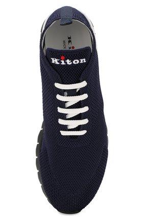 Мужские текстильные кроссовки KITON синего цвета, арт. USSFITN00609020 | Фото 5