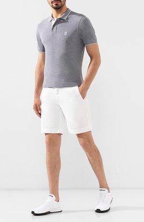 Мужские текстильные кроссовки KITON белого цвета, арт. USSFITN00609010 | Фото 2
