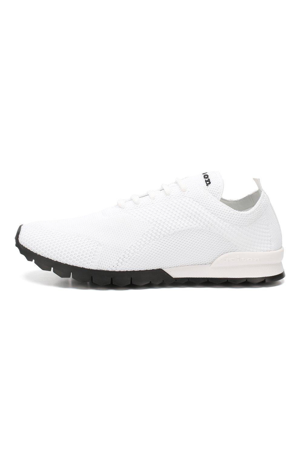Мужские текстильные кроссовки KITON белого цвета, арт. USSFITN00609010 | Фото 3