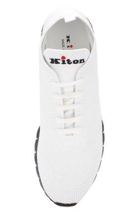 Мужские текстильные кроссовки KITON белого цвета, арт. USSFITN00609010 | Фото 5