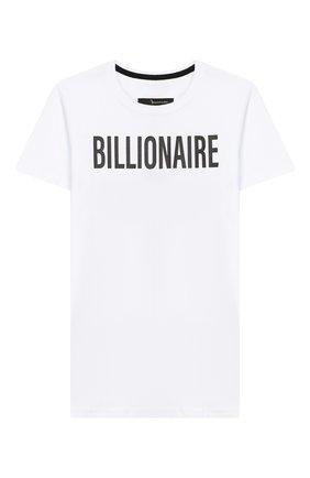 Детская хлопковая футболка BILLIONAIRE белого цвета, арт. BTK0748 | Фото 1