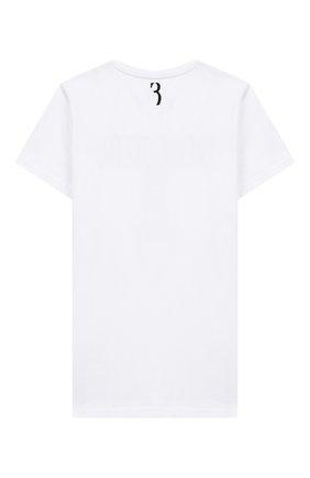 Детская хлопковая футболка BILLIONAIRE белого цвета, арт. BTK0748 | Фото 2