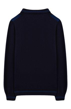 Детский пуловер из хлопка и кашемира BILLIONAIRE синего цвета, арт. BKK0009 | Фото 2