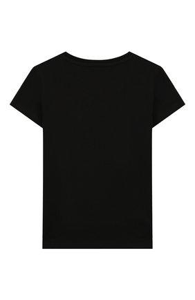 Детская хлопковая футболка PHILIPP PLEIN черного цвета, арт. GTK0382 | Фото 2