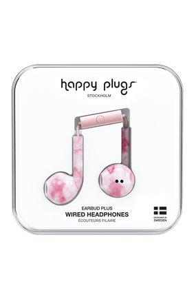 Мужские наушники earbud plus HAPPY PLUGS розового цвета, арт. 7839 | Фото 1