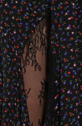 Женская шелковая юбка MCQ SWALLOW темно-синего цвета, арт. 570651/RNB05   Фото 5 (Материал внешний: Шелк; Длина Ж (юбки, платья, шорты): Миди; Статус проверки: Проверена категория)