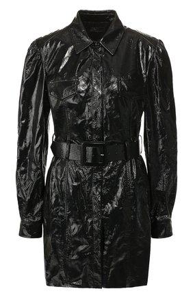 Женское кожаное платье DROME черного цвета, арт. DPDA303P/D1691P | Фото 1