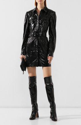 Женское кожаное платье DROME черного цвета, арт. DPDA303P/D1691P | Фото 2