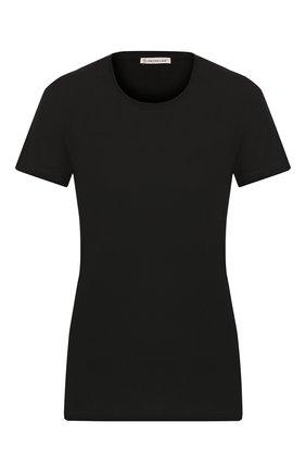 Женская хлопковая футболка MONCLER черного цвета, арт. E2-093-80904-00-V8058 | Фото 1