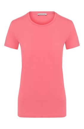 Женская хлопковая футболка MONCLER розового цвета, арт. E2-093-80904-00-V8058 | Фото 1