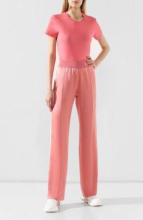 Женская хлопковая футболка MONCLER розового цвета, арт. E2-093-80904-00-V8058 | Фото 2