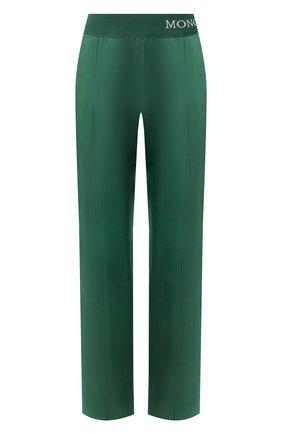 Женские брюки с лампасами MONCLER зеленого цвета, арт. E2-093-16500-00-C0006 | Фото 1