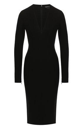 Женское платье TOM FORD черного цвета, арт. ABJ044-FAX021 | Фото 1