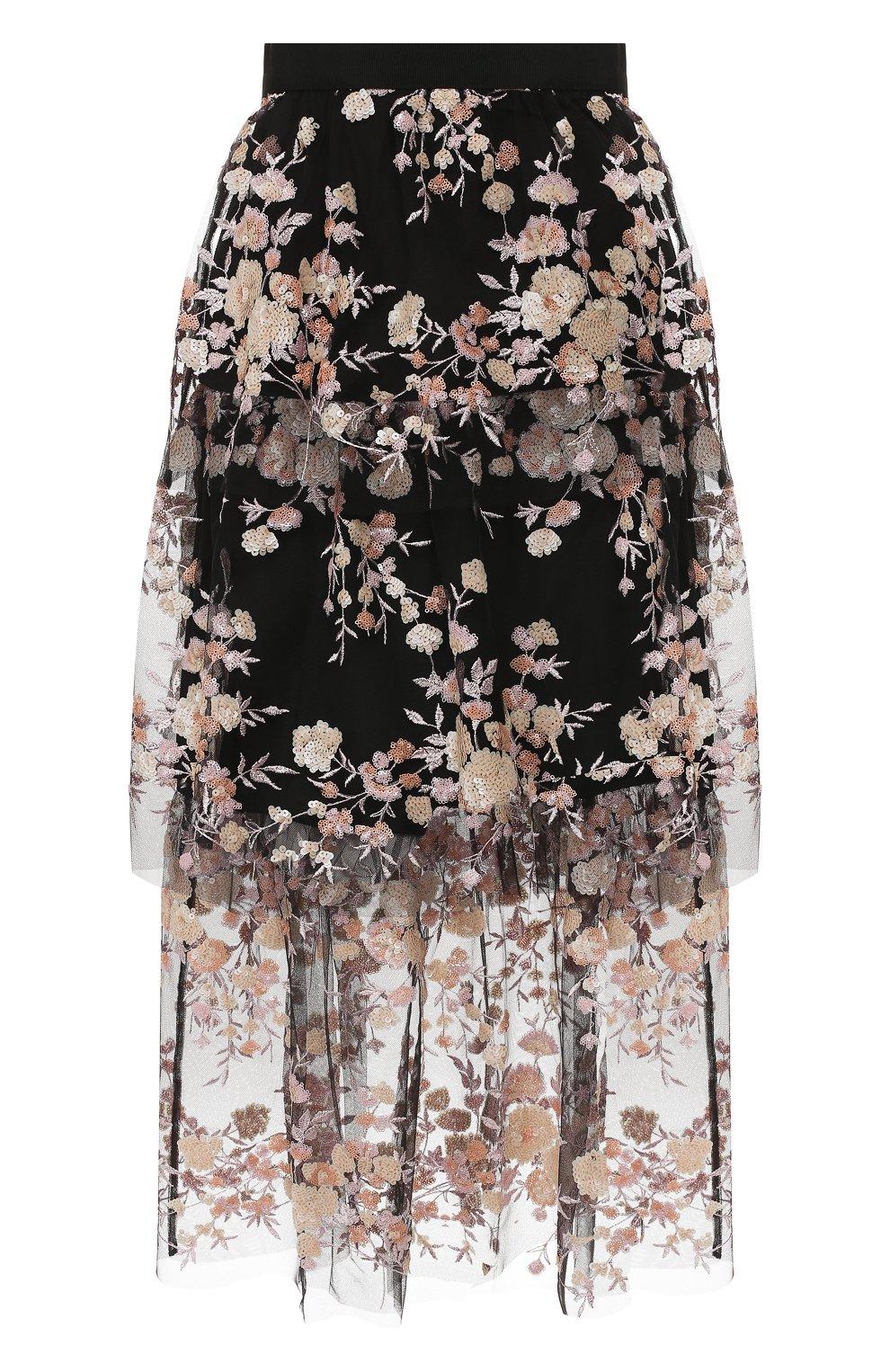 Женская юбка-миди SELF-PORTRAIT разноцветного цвета, арт. SP22-117 | Фото 1