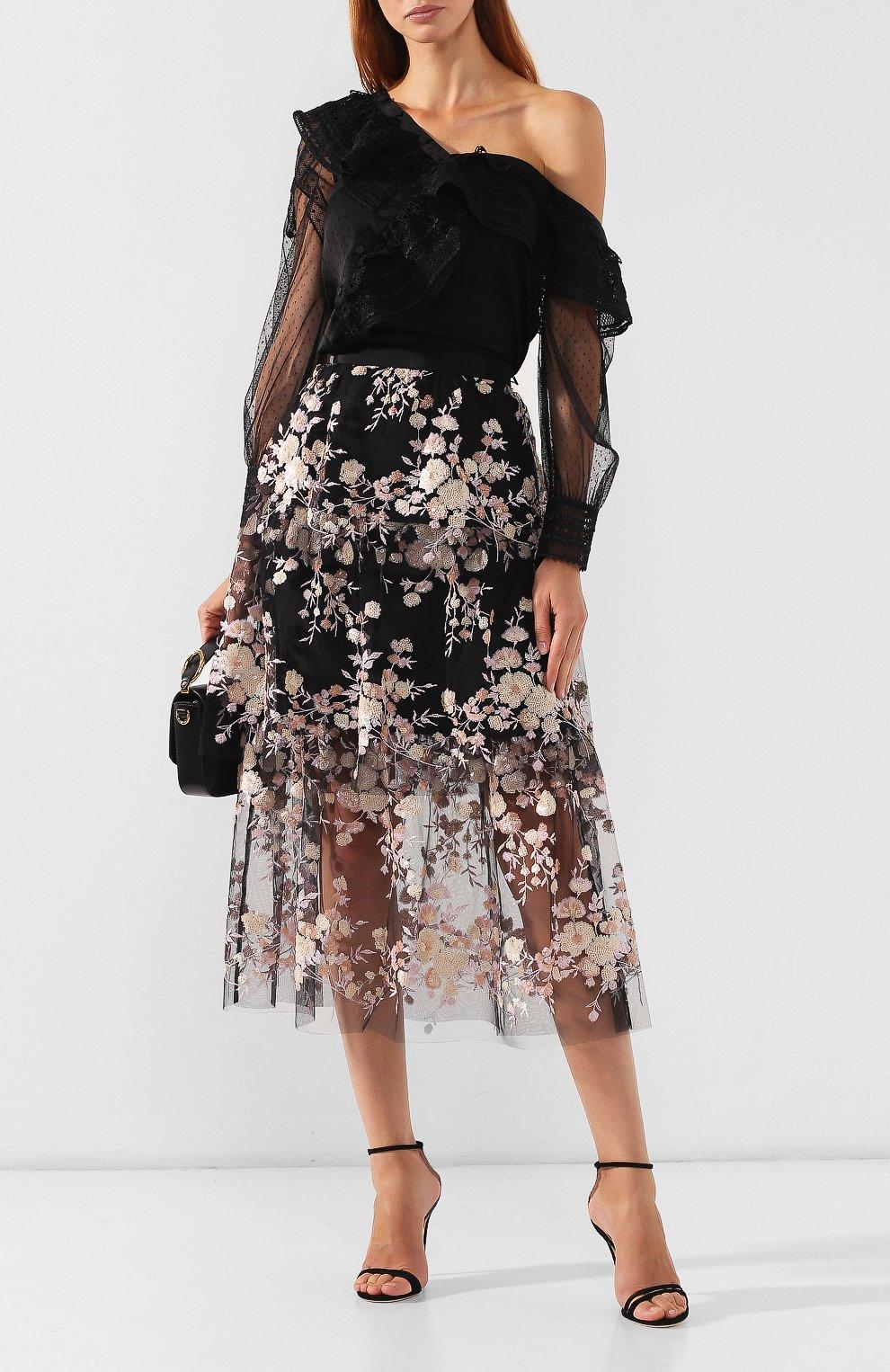 Женская юбка-миди SELF-PORTRAIT разноцветного цвета, арт. SP22-117 | Фото 2