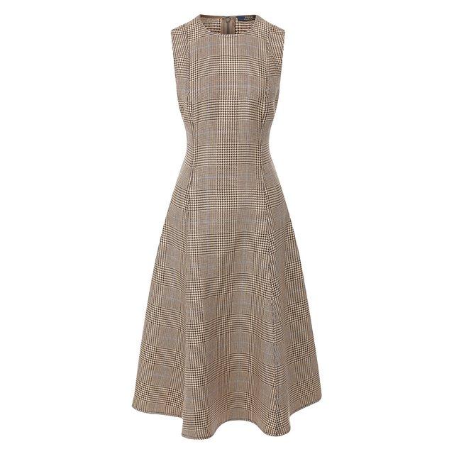 Платье из смеси хлопка и льна Polo Ralph Lauren