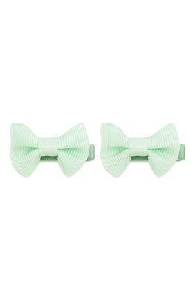 Детская комплект из 2-х зажимов small bow z JUNEFEE светло-зеленого цвета, арт. 5937   Фото 1