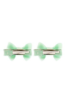 Детская комплект из 2-х зажимов small bow z JUNEFEE светло-зеленого цвета, арт. 5937   Фото 2