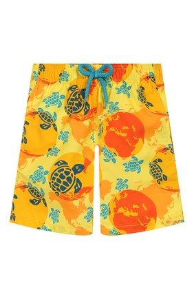 Детские плавки-шорты VILEBREQUIN оранжевого цвета, арт. JIME9B32 | Фото 1