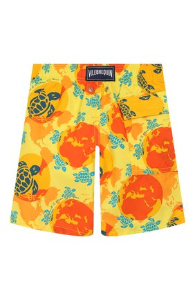 Детские плавки-шорты VILEBREQUIN оранжевого цвета, арт. JIME9B32 | Фото 2