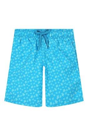 Детские плавки-шорты VILEBREQUIN синего цвета, арт. JIMH9B35 | Фото 1
