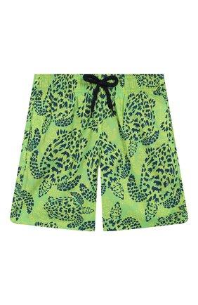 Детские плавки-шорты VILEBREQUIN светло-зеленого цвета, арт. JHIH9J06 | Фото 1