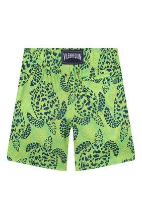 Детские плавки-шорты VILEBREQUIN светло-зеленого цвета, арт. JHIH9J06 | Фото 2